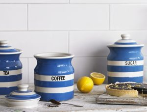 Stylish Cornishware crockery