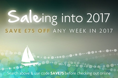Save £75 off any week in 2017. Use code SAVE75 before checking out online.